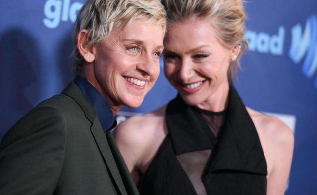 Ellen in Portia sta poročeni že desetletje. Foto Ap