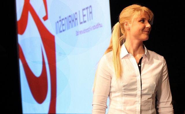 Dora Domajnko je izbrana za inženirko leta 2018. FOTO: Mavric Pivk/Delo