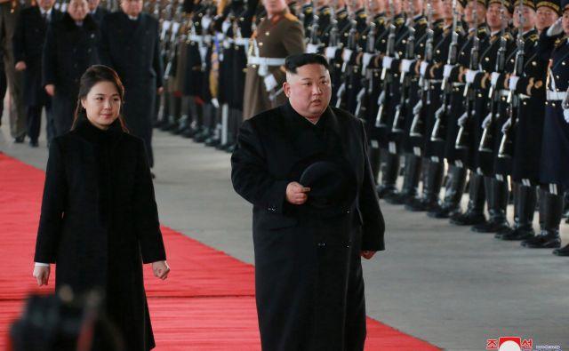 Kim Džong Un je kitajska karta v trgovinskih pogajanjih z ZDA. FOTO: Reuters