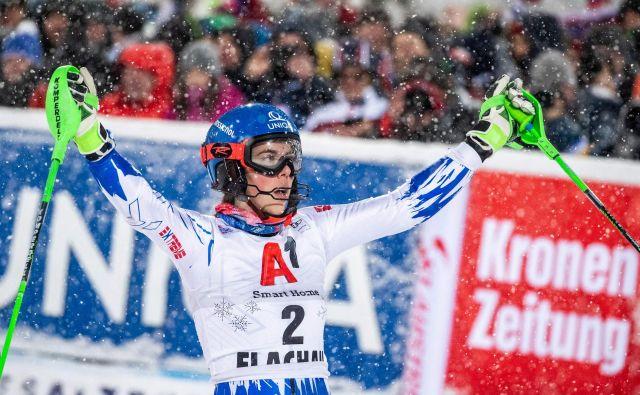 Petra Vlhova je v tej sezoni dosegla še tretjo zmago v svetovnem pokalu. FOTO: AFP