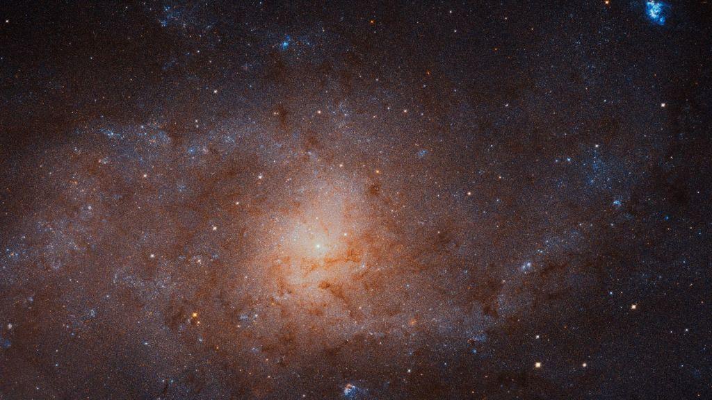 Podroben posnetek sosednje galaksije v Trikotniku (VIDEO)