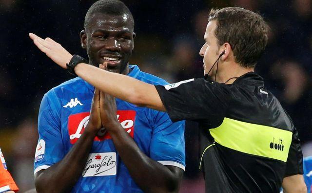 Kalidou Koulibaly je bil žrtev rasističnih opazk. FOTO: Ciro de Luca/Reuters