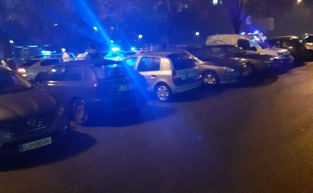 Nesreča na Dunajski. FOTO: Janez Tomažič/Delo