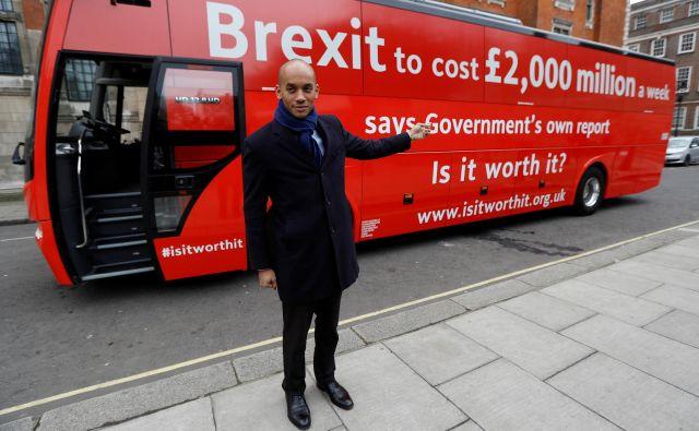 Labusistični poslanec Chuka Umunna je prepričan, da bo Britanijo odhod iz Evropske unije zelo drago stal. FOTO: Reuters