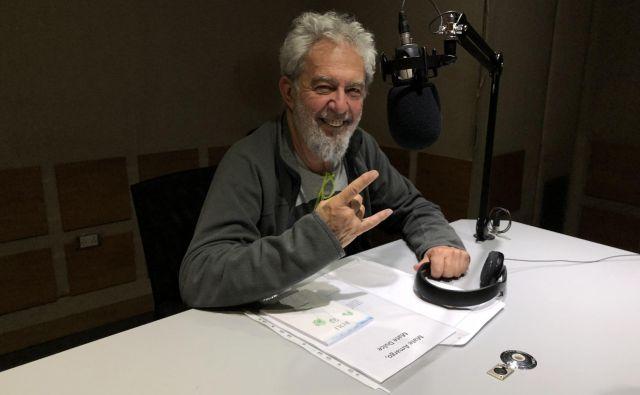 Lalo Mir na radiu Pop v buenosaireški četrti Palermo Foto Aljaž Vrabec