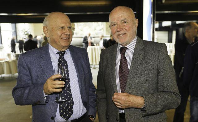 Joco Žnidaršič (desno), z Janezom Kocijančičem.<br /> FOTO: Jože Suhadolnik