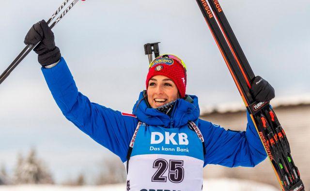 Lisa Vittozzi je zmagovalka šprinta v Oberhofu. FOTO: AFP