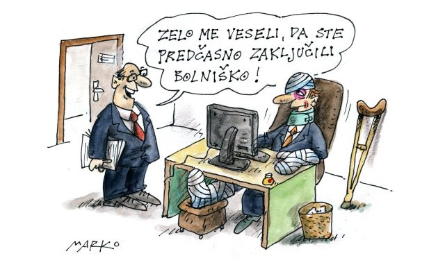 Bolniška KARIKATURA: Marko Kočevar