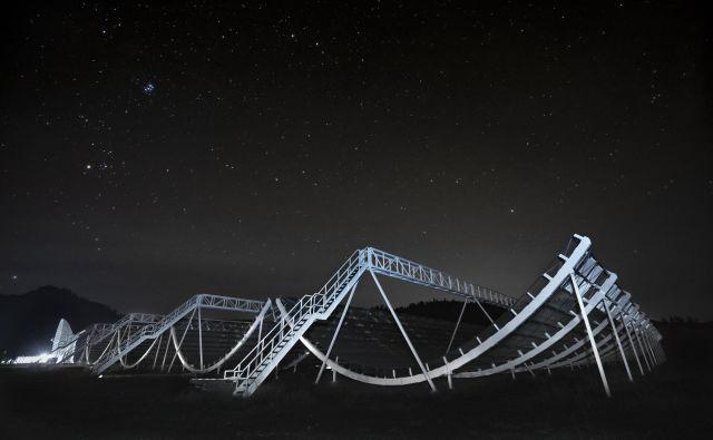 Kanadski teleskop CHIME. FOTO: CHIME telescope