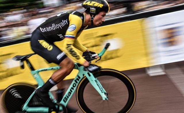Vožnja na čas je bila eden glavnih razlogov, da se je Primož Roglič raje kot za Tour odločil za Giro. Foto AFP