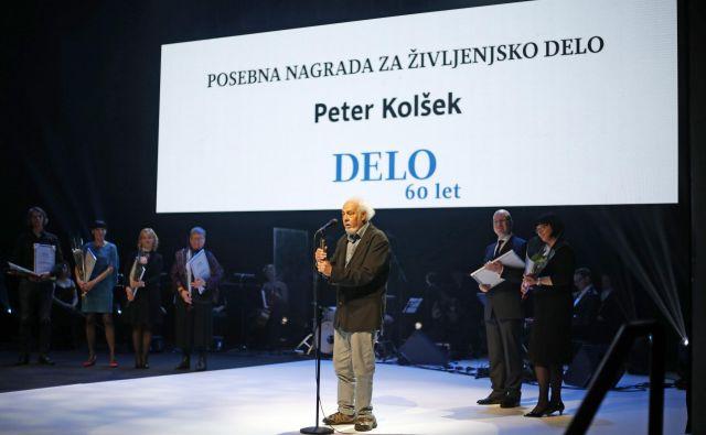 Letošnji Delov nagrajenec za življenjsko delo. FOTO: Matej Družnik