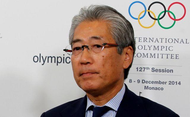 Tsunekazu Takeda, predsednik Olimpijskega komiteja Japonske, je zanikal namigovanja na korupcijo.<br /> FOTO Reuters