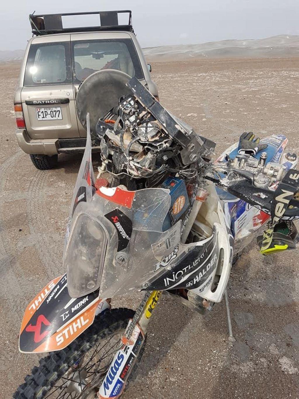 Simon Marčič s padcem zaključil Dakar