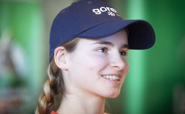 Nika Križnar je bila 14. po prvi seriji in na koncu tekme. FOTO: Voranc Vogel/Delo