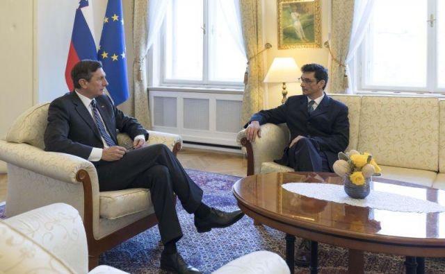 Borut Pahor in Peter Svetina. FOTO: UPRS