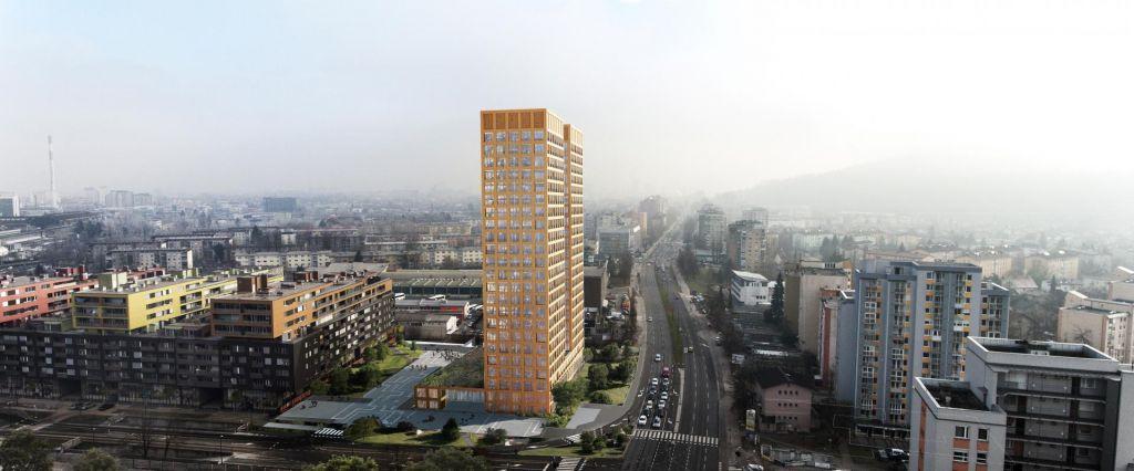 FOTO:Rastoder ob Celovški že gradi najvišji stolpnici pri nas