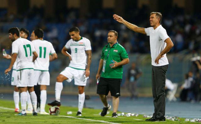 Iraški selektor Srečko Katanec pričakuje osmino finala azijskega prvenstva neporažen po treh tekmah.FOTO: Reuters