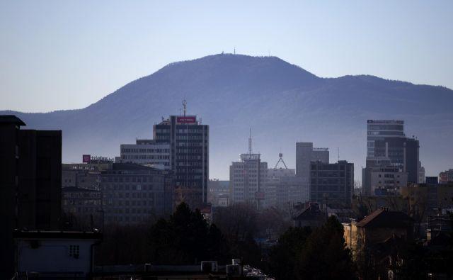 Ljubljanska panorama, 15. januar 2019 [Petrol, Zavarovalnica Triglav, Telekom, Intercontinental, panorame] Foto Matej Družnik