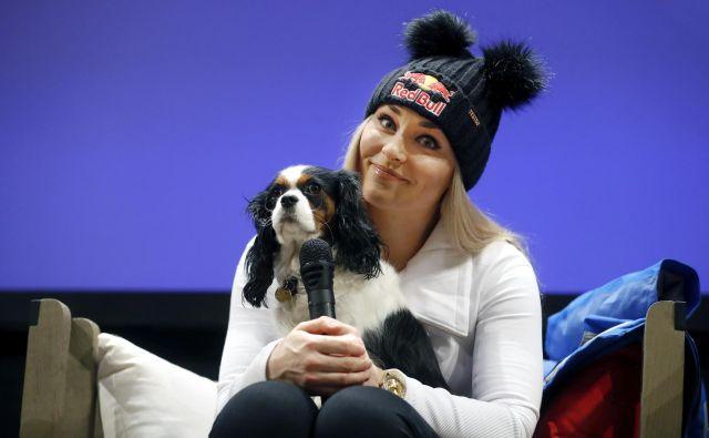 Lindsey Vonn je na novinarski konferenci ob vrnitvi delovala umirjeno, zrelo in premišljeno. FOTO: Matej Družnik/Delo