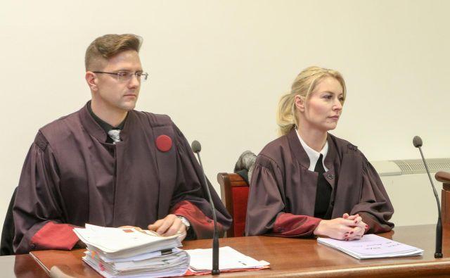 Zagovornica Špela Mesesnel je pričakovala predlog pogojne kazni. FOTO: Marko Feist