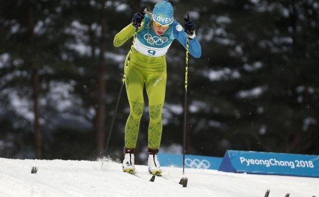 Anamarija Lampič se veseli, ker jo ob koncu tedna čaka tekma s klasično tekaško tehniko.<br /> FOTO Matej Družnik/Delo
