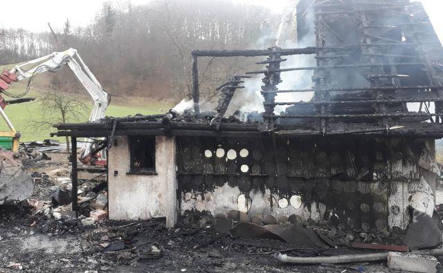 Uničeno domovanje družine Jurše. FOTO: Arhiv občine Šmarje pri Jelšah.