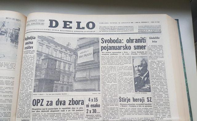 Delo je intenzivno poročalo o samovžigu Jana Palacha, demonstracijah in vseh političnih dejanjih češkoslovaških oblasti za umiritev razmer.