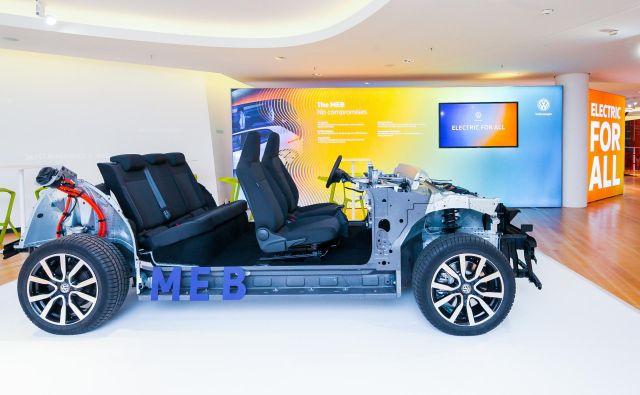 Nova električna platforma skupine Volkswagen, na kateri bo prvi avtomobil, kombilimuzina, pripravljen proti koncu letošjega leta. Foto Volkswagen