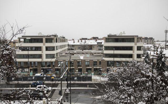 Spomladi bo predvidoma končana gradnja stanovanj v rezidenci Luwigana. Namesto prvotno načrtovanih 90 bo na trgu 63 nadstandardnih stanovanj. Foto Voranc Vogel