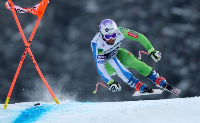 Martin Čater je bil za uvod wengenskega konca tedna najboljši Slovenec. FOTO: Reuters