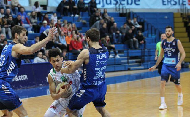 Olimpijin plejmejker Issuf Sanon v Zagrebu ni bil niti med strelci. FOTO: ABA
