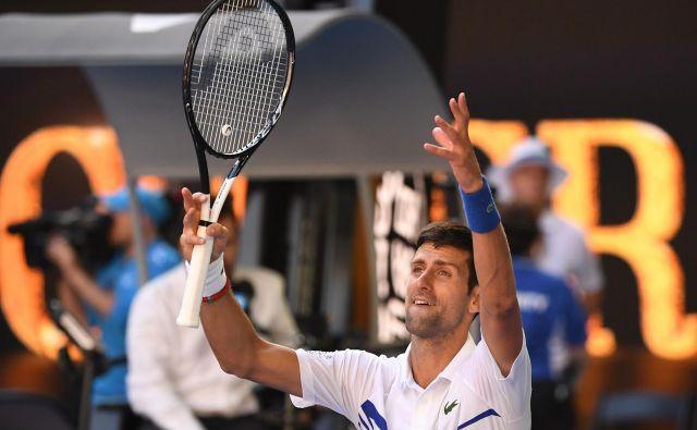 Novak Đoković tudi v Avstraliji igra zelo dobro. FOTO: AFP
