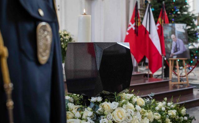 Poljski predsednikAndrzej Dudaje na dan njegovega pogreba v državi razglasili dan žalovanja.FOTO: Wojtek Radwanski/Afp