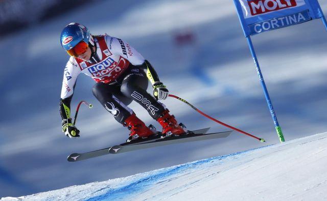 Mikaela Shiffrin je zmagala na vseh superveleslalomih te zime, na katerih je nastopila. FOTO: Matej Družnik/Delo