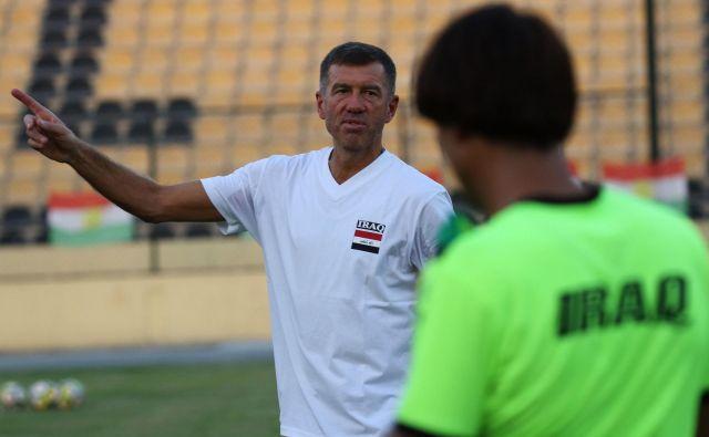 Srečko Katanec po snidenjih z Vietnamom, Jemnom in Iranom pričakuje prvo izločilno tekmo prvenstva za Irak. FOTO: AFP