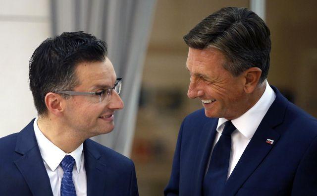 Premier Marjan Šarec je drugi politik, ki je v zadnjih šestih letih z vrha lestvic priljubljenosti odnesel predsednika republike Boruta Pahorja, njegova stranka LMŠ pa je prehitela SDS. FOTO: Matej Družnik/Delo