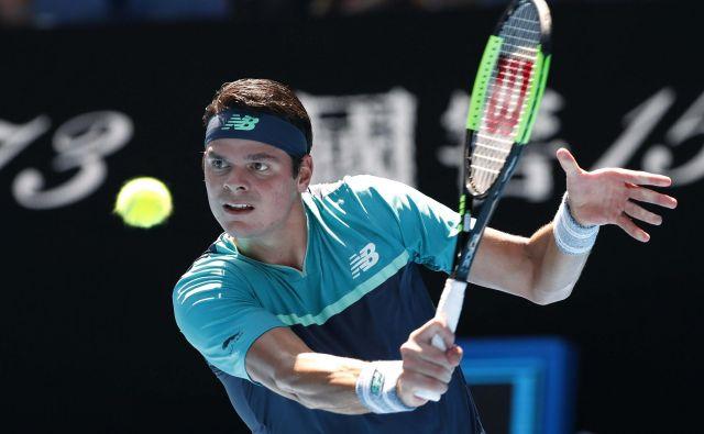 Miloš Raonić tridesetič nastopa na turnirjih velike četverice. FOTO: Kyung-hoon Kim/Reuters