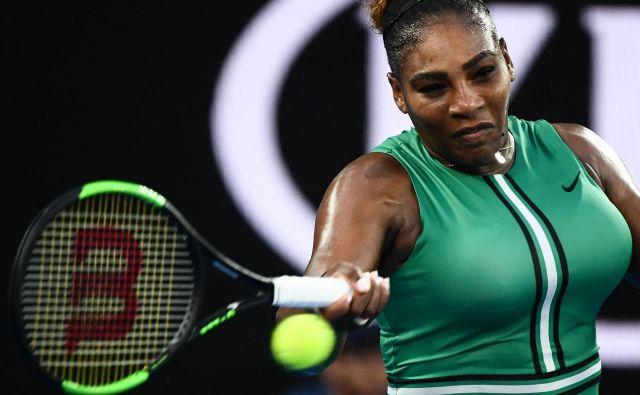 Serena Williams je kljub napakam odpravila št. 1. FOTO: Jewel Samad/AFP