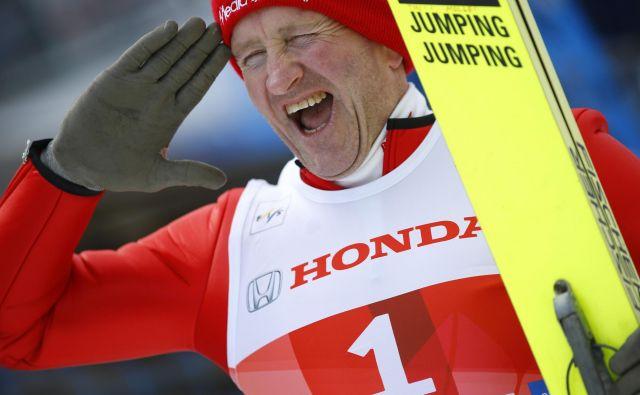 Michael »Eddie« Edwards je večino tekem, ki se jih je udeležil, končal na zadnjem mestu. FOTO: Reuters