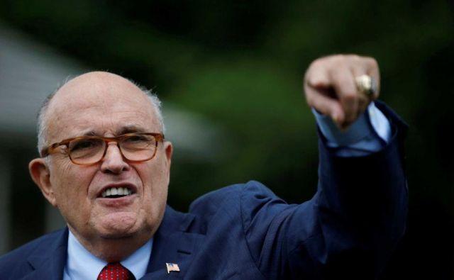 Predsednikov osebni odvetnik Rudy Giuliani je svoji stranki povzročil nove težave. FOTO: Reuters