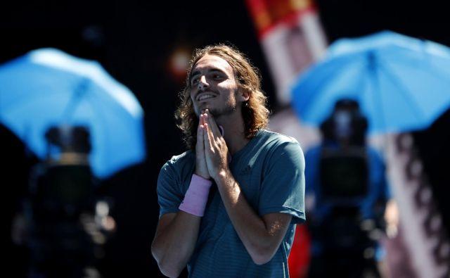 Stefanos Tsitsipas živi pravljico s srečnim koncem. FOTO: Reuters