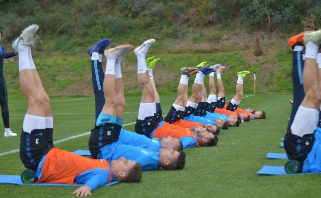 V slovenskem taboru so navdušeni nad razmerami za nogometno vadbo, ki jih omogoča njihov začasni domicil na jugu Španije.FOTO: NZS