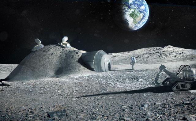 Postaja na Luni. FOTO: Esa/Foster