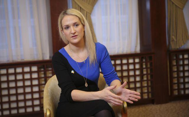 Irska državna ministrica za evropske zadeve Helen McEntee. FOTO: Jože Suhadolnik