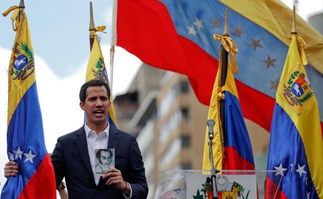 Vodja opozicije in predsednik venezuelskega državnega zbora Juan Guaidó Foto: Carlos Garcia Rawlins/Reuters