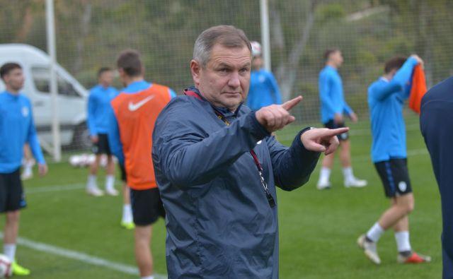 Matjaž Kek vodi Slovenijo prvič po oktobru 2011, ko je njegova Slovenija tedaj v Mariboru premagala Srbijo. Foto NZS
