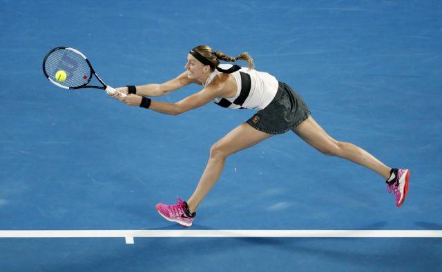 Petra Kvitova še vedno ni oddala niti niza. FOTO: Aly Song/Reuters