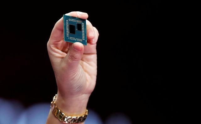 AMD je na sejmu Ces predstavil mobilni procesor ryzen (na sliki). FOTO: Reuters