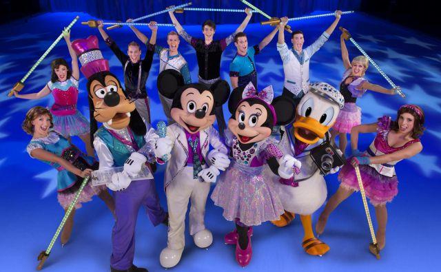 Najbolj znani Disneyjevi junaki, tokrat na ledu. FOTO: Disney On Ice