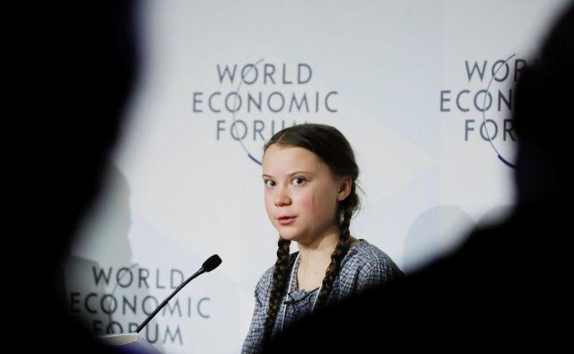Šestnajstletna Švedinja je sprožila gibanje petkov za prihodnost (FridaysForFuture). FOTO: Arnd Wiegmann/Reuters